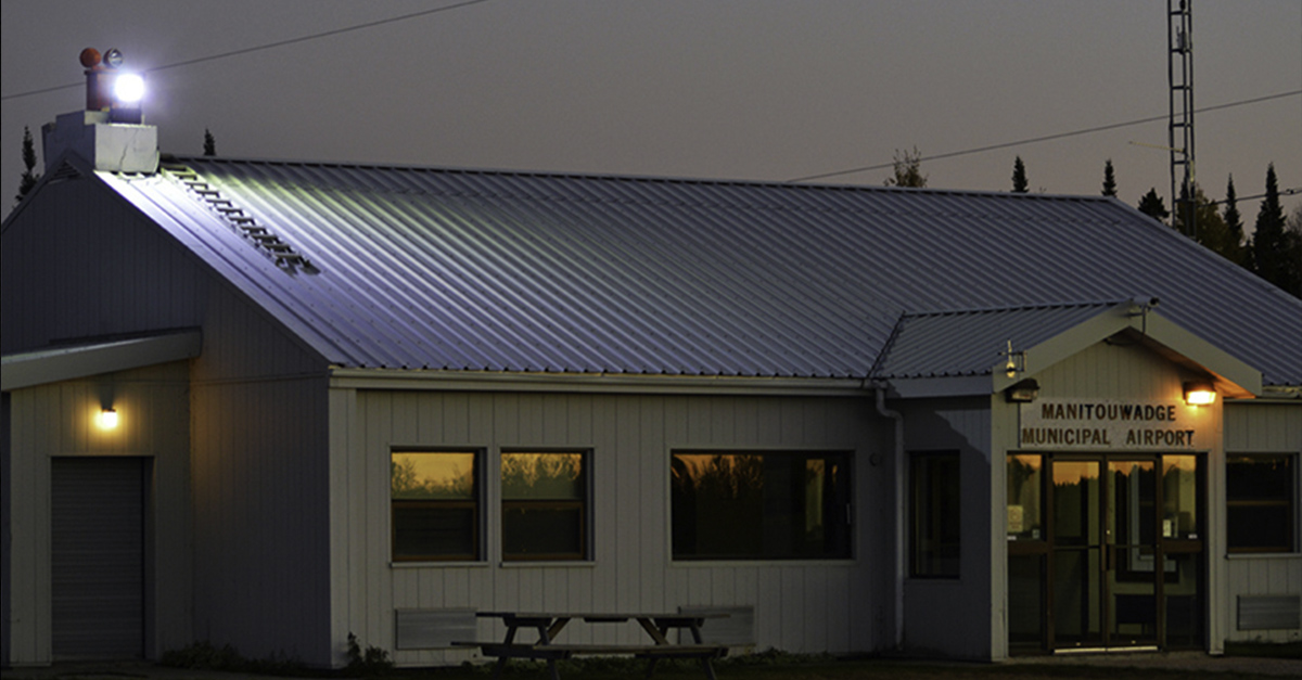 Manitouwadge Municipal Airport selected Nemalux RS Series industrial LED luminaire to replace its HPS luminaires due to its higher efficiency, improved night time visibility for better security cameras recording, low temperature operation and low maintenance.