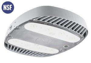 Nemalux AR Series industrial, high lumens, high bay LED luminaire for area lighting - hazardous location class I division 2 (c1d2), marine (UL 1598), Foodsafe (NSF), Dark Sky (IDA) and DLC approved
