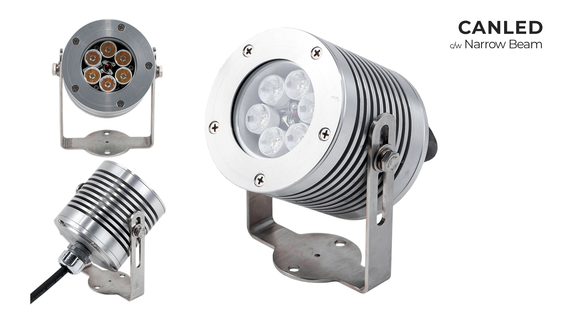Nemalux CANLED hazardous location class I div 2 (c1d2) industrial LED luminaire c/w Narrow Beam Lens
