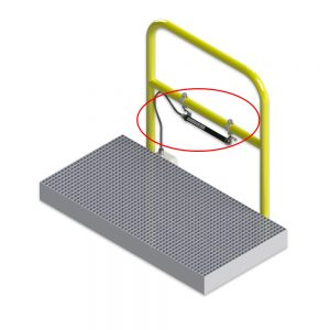 Quick Install LED Systems - GS-Handrail - installation diagram for GS Series Low Profile Linear Industrial LED Luminaire, marine, IP66/67 and hazardous location (class I div 2, c1d2) rated