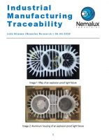Industrial Manufacturing Traceability