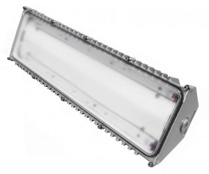 High output model of Nemalux BL series linear industrial LED luminaire, marine and hazardous location class I div 2 (c1d2) approved and replacement for vapour tight fluorescent light