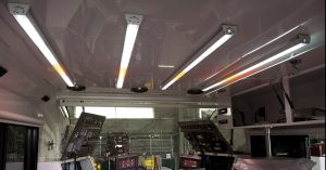 Nemalux GS Series Linear LED Luminaire installed in operator cab - low profile, low voltage DC or AC, IP66/67 rating, class I div 2 (c1d2) and daisy-chain wiring