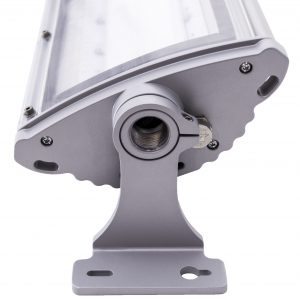 Adjustable mount Nemalux NL series linear industrial LED luminaire, IP66, marine and hazardous location class I div 2 (c1d2) approved and replacement for linear fluorescent light fixtures