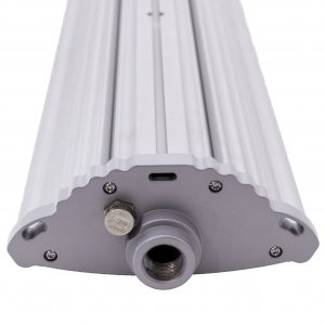 Suspended mount thru holes of Nemalux NL series linear industrial LED luminaire, IP66, marine and hazardous location class I div 2 (c1d2) approved and replacement for linear fluorescent light fixtures