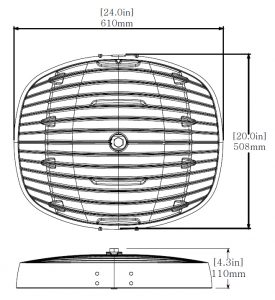 Nemalux AR Series Industrial LED Luminaire Dimensions Drawing