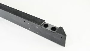 Back of Mounting bracket view of Nemalux Bullrail-GS-2 for marine dock and wharf applications