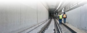 Calgary Light Rapid Transit tunnel lighting project using Nemalux RS Series industrial LED luminaire for area lighting, hazardous location (class I div 2 / c1d2), IP66 and marine rated
