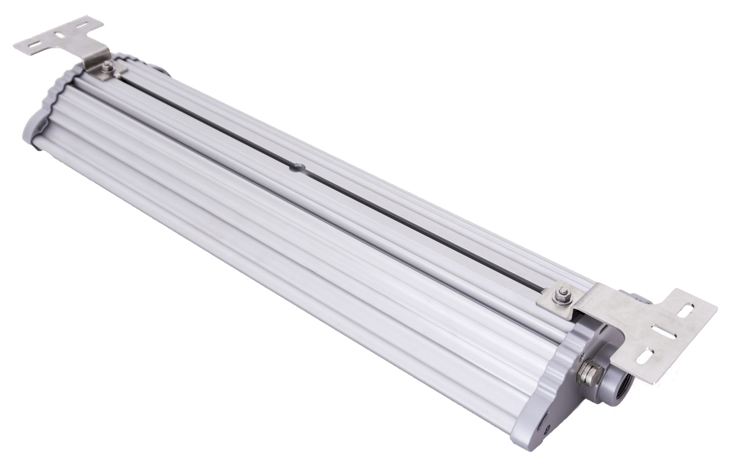 Surface mount Nemalux NL series linear industrial LED luminaire, IP66, marine and hazardous location class I div 2 (c1d2) approved and replacement for linear fluorescent light fixtures