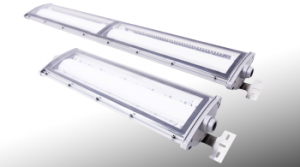 Nemalux NL series linear industrial LED luminaire, IP66, marine and hazardous location class I div 2 (c1d2) approved and replacement for linear fluorescent light fixtures