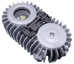 Nemalux EXC series of low profile explosion proof industrial LED luminaire, IP66 and hazardous location class I div 1 and 2 (c1d1,c1d2) approved