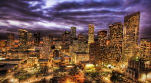 Night view of houston cityscape - Nemalux is represented in the Southern US and portions of the Gulf Coast by Brady Waters with headquarters located in Richardson, Texas, and offices in Dallas, Houston, nearby Louisiana, Oklahoma and Arkansas.