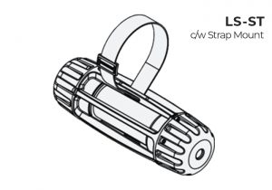 Strap mount Nemalux LS-ST Light Stringer modular industrial LED luminaire for temporary and portable lighting applications with IP66, marine and hazardous location (class I div 2, c1d2) certifications