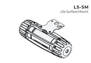 Surface mount Nemalux LS-SM Light Stringer modular industrial LED luminaire for temporary lighting and portable applications with IP66, marine and hazardous location (class I div 2, c1d2) certifications