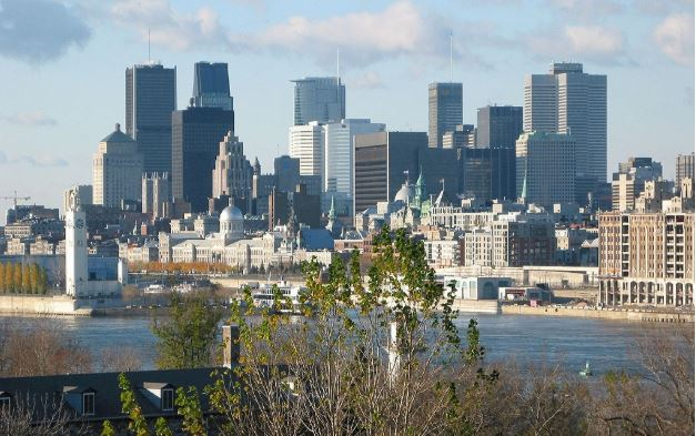Cityscape of Montreal, Quebec, Canada, where Nemalux is represented by Ex-Supply.