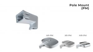 Nemalux Pole Mount (PM) industrial lighting fixture mounting bracket for models AR, MR and XR