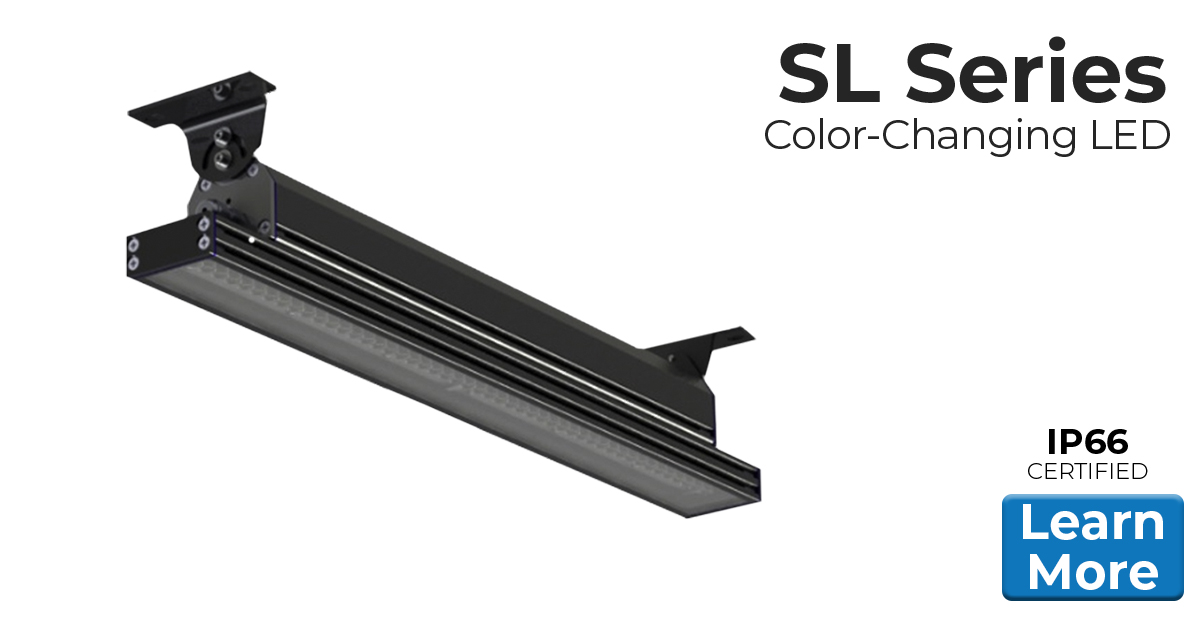 Nemalux SL Series IP66 rated Color Changing Linear LED luminaire