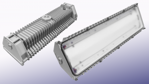 Nemalux UV BL series of antibacterial linear industrial LED luminaire, marine and hazardous location class I div 2 (c1d2) approved and replacement for vapour tight fluorescent light