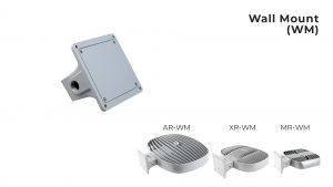 Nemalux Wall Mount (WM) industrial lighting fixture mounting bracket for models AR, MR and XR
