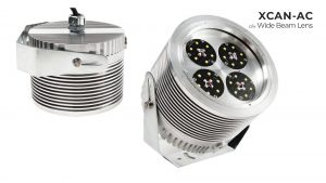 Nemalux XCAN-AC hazardous location class I div 2 (c1d2) rated industrial LED luminaire with wide beam lens