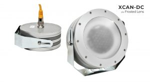 Nemalux XCAN-DC hazardous location class I div 2 (c1d2) rated industrial LED luminaire with frosted lens