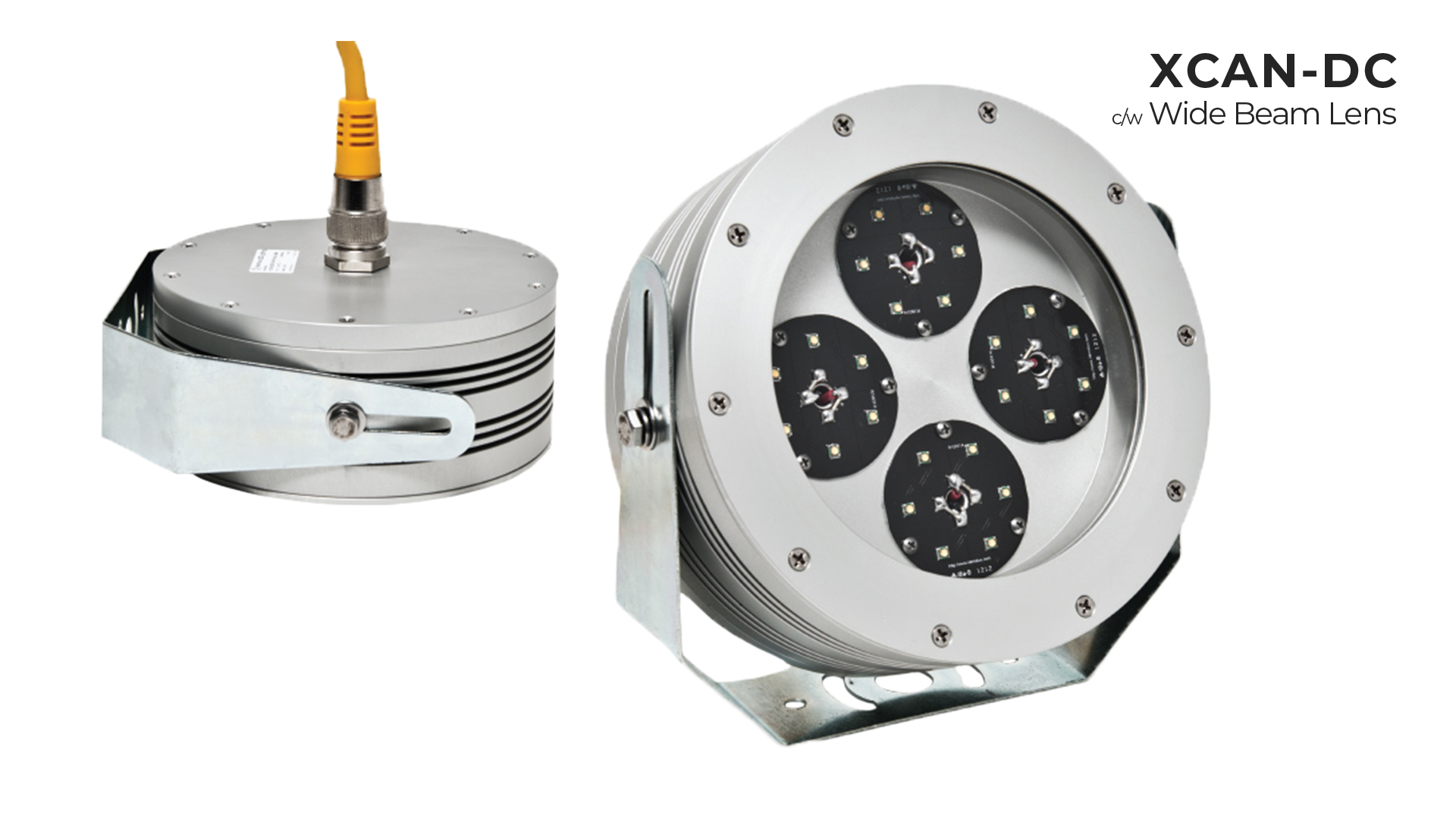 Nemalux XCAN-DC hazardous location class I div 2 (c1d2) rated industrial LED luminaire with wide beam lens