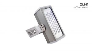 Nemalux ZLM1 modular, compact, high lumens industrial LED luminaire with yoke mount, IP66 and marine rated