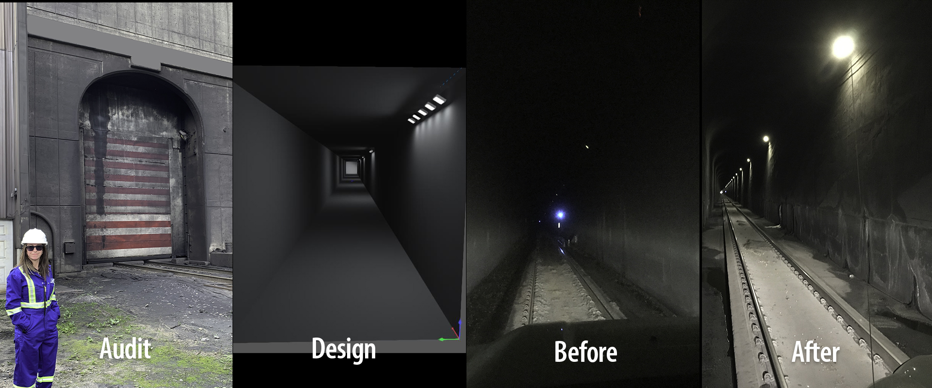 Nemalux consulted to a major national railway to improve its tunnel lighting through the Canadian Rocky Mountains. A lighting audit provided detailed information to build a detailed lighting layout simulation, which helped the customer to decide on the MR Series industrial LED luminaire.