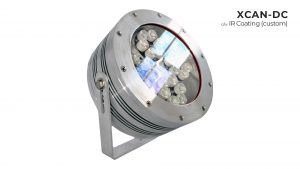 Nemalux XCAN-DC hazardous location class I div 2 (c1d2) rated industrial LED luminaire with custom IR coating for extreme temperature application