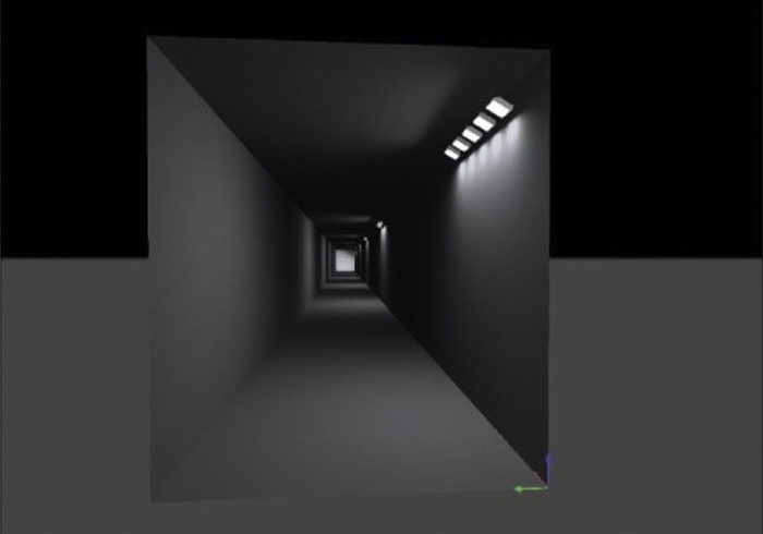 Lighting layout simulation for railway tunnel in the Canadian Rockies using Nemalux XR series industrial LED luminaire