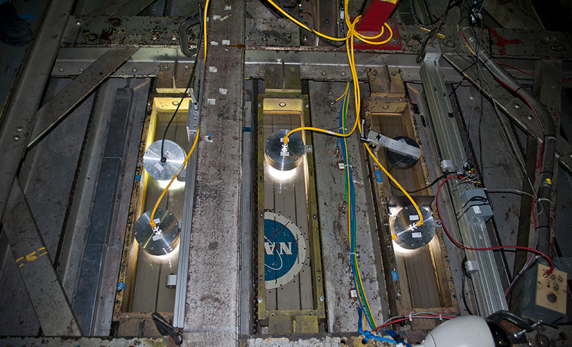 NASA Ames Research Centre selected Nemalux XCANLED for superior performance in low pressure wind tunnel environment and GSLED for no glare but high quality light and DC operation in a confined space