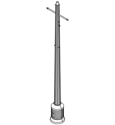 Poles | Fluted | Industrial Lighting