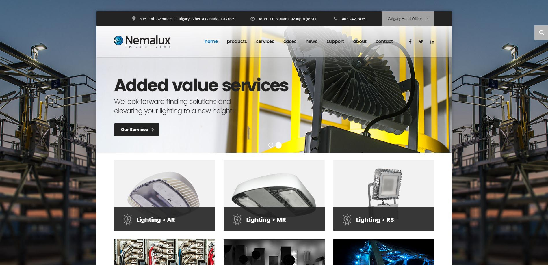 hd lighting supply calgary. introducing brand new nemalux industrial website hd lighting supply calgary
